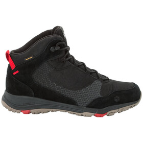 Jack Wolfskin Activate XT Texapore Mid-Cut Schuhe Herren black/red
